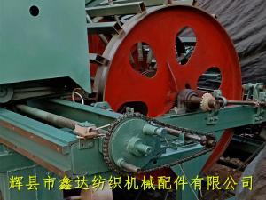 高速分条整经机悬挂部位的细节图